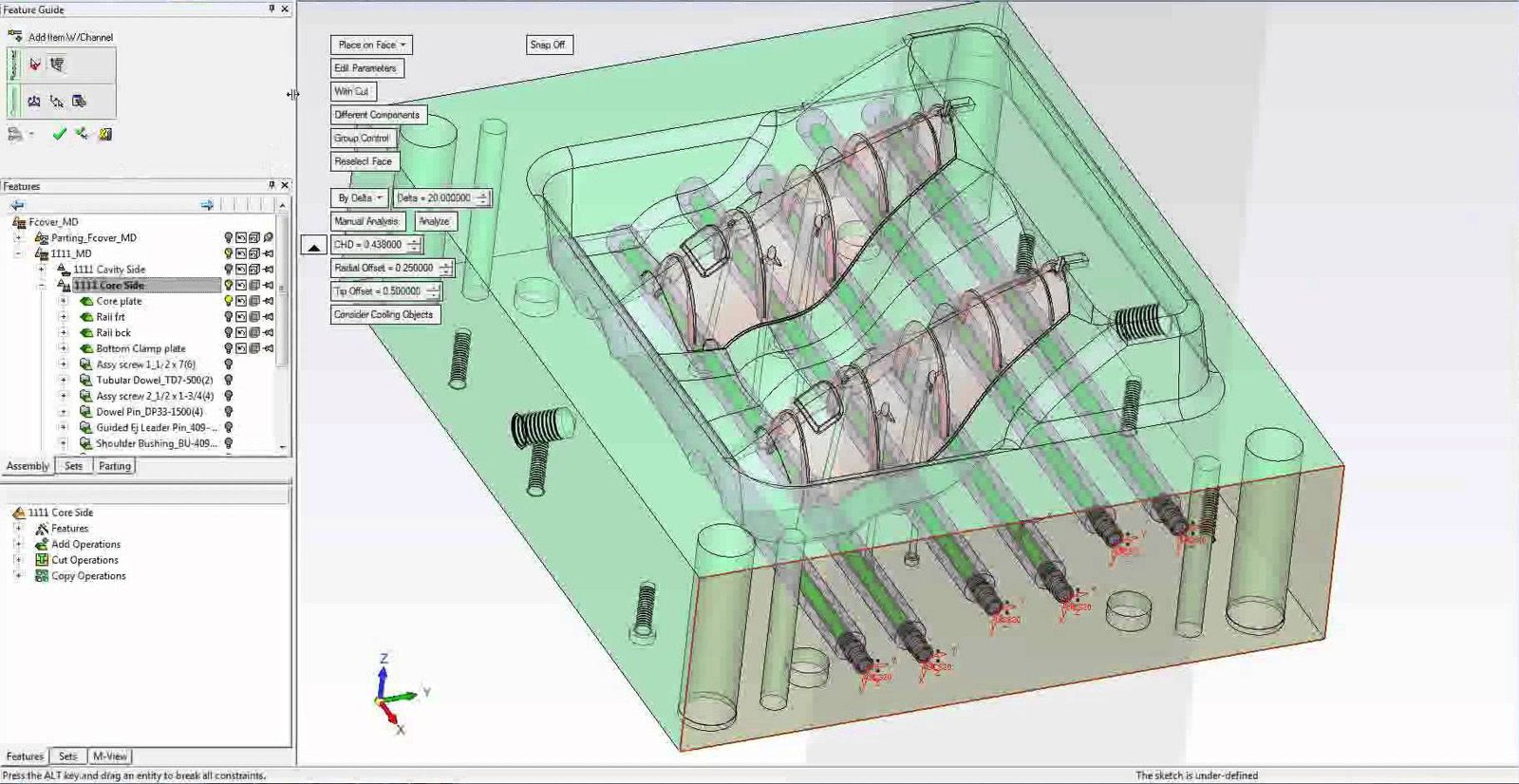 Concept development and design for injection molding